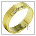 Snubní prsteny LSP 1875 žluté zlato