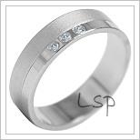Snubní prsteny LSP 1875b bílé zlato