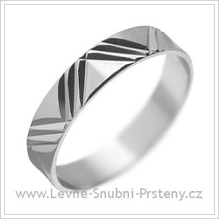Snubní prsteny LSP 1877 bílé zlato