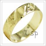 Snubní prsteny LSP 1880 žluté zlato