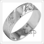 Snubní prsteny LSP 1880b bílé zlato