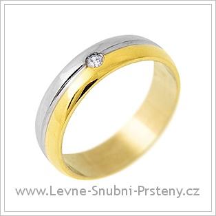 Snubní prsteny LSP 1881 - kombinované zlato