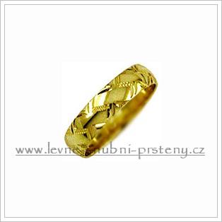 Snubní prsteny LSP 1882 žluté zlato