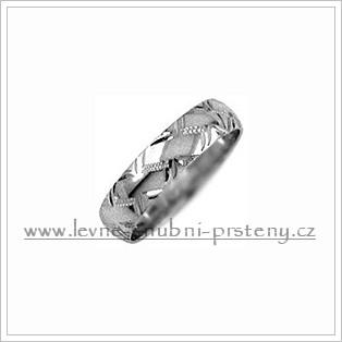 Snubní prsteny LSP 1882b bílé zlato