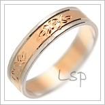 Snubní prsteny LSP 1883 kombinované zlato