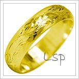 Snubní prsteny LSP 1884 žluté zlato