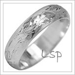 Snubní prsteny LSP 1884b bílé zlato