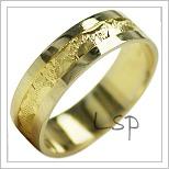 Snubní prsteny LSP 1886 žluté zlato