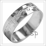 Snubní prsteny LSP 1886b bílé zlato