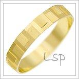 Snubní prsteny LSP 1887 žluté zlato