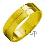 Snubní prsteny LSP 1888 žluté zlato