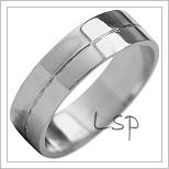 Snubní prsteny LSP 1888b bílé zlato