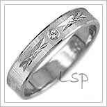 Snubní prsteny LSP 1889b bílé zlato