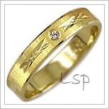 Snubní prsteny LSP 1889z žluté zlato se zirkony