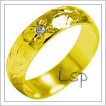Snubní prsteny LSP 1891 žluté zlato