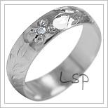 Snubní prsteny LSP 1891b bílé zlato