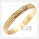 Snubní prsteny LSP 1894 kombinované zlato