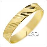 Snubní prsteny LSP 1895 žluté zlato