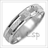Snubní prsteny LSP 1897b bílé zlato