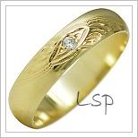 Snubní prsteny LSP 1898 žluté zlato