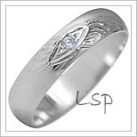 Snubní prsteny LSP 1898b bílé zlato