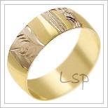 Snubní prsteny LSP 1899 žluté zlato