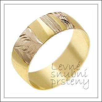 Snubní prsteny LSP 1899 kombinované zlato