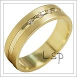 Snubní prsteny LSP 1901 žluté zlato