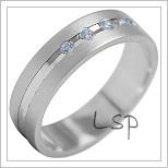 Snubní prsteny LSP 1901b bílé zlato