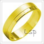 Snubní prsteny LSP 1903 žluté zlato