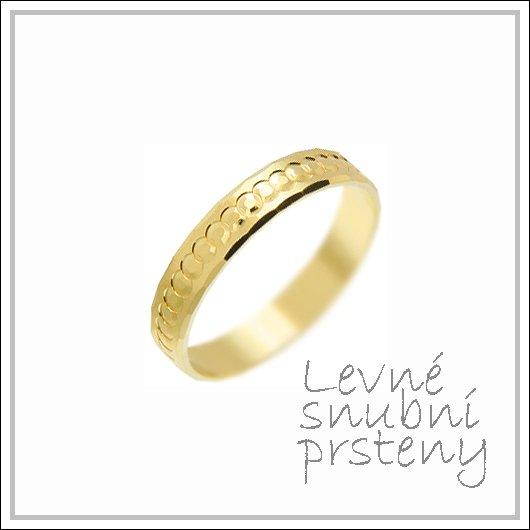Snubní prsteny LSP 1904 žluté zlato