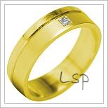 Snubní prsteny LSP 1905 žluté zlato