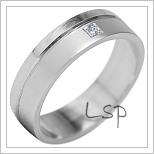 Snubní prsteny LSP 1905b bílé zlato