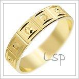 Snubní prsteny LSP 1906 žluté zlato