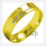 Snubní prsteny LSP 1908 žluté zlato