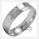 Snubní prsteny LSP 1908b bílé zlato