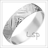 Snubní prsteny LSP 1910 bílé zlato