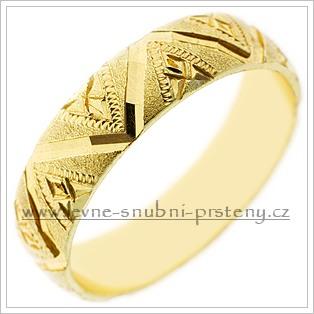 Snubní prsteny LSP 1911 žluté zlato