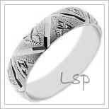 Snubní prsteny LSP 1911b bílé zlato