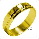 Snubní prsteny LSP 1914 žluté zlato