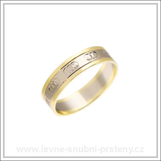 Snubní prsteny LSP 1915 kombinované zlato