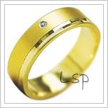Snubní prsteny LSP 1916 žluté zlato