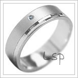 Snubní prsteny LSP 1916b bílé zlato