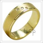 Snubní prsteny LSP 1918 žluté zlato