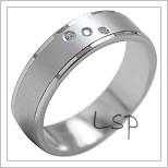 Snubní prsteny LSP 1918b bílé zlato
