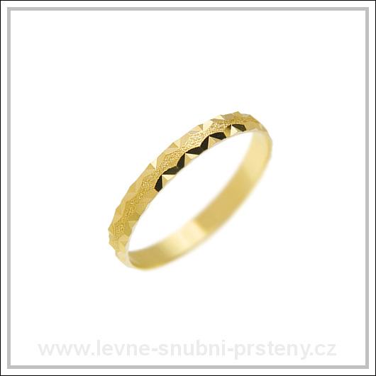 Snubní prsteny LSP 1919 žluté zlato