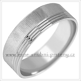 Snubní prsteny LSP 1920b bílé zlato
