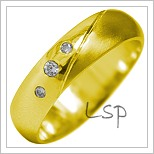 Snubní prsteny LSP 1924 žluté zlato