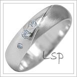 Snubní prsteny LSP 1924b bílé zlato
