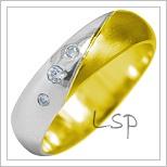 Snubní prsteny LSP 1924k kombinované zlato
